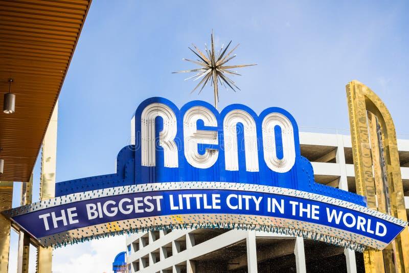 Sikt av den Reno bågen royaltyfri foto