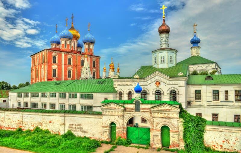 Sikt av den Ryazan Kreml i Ryssland fotografering för bildbyråer