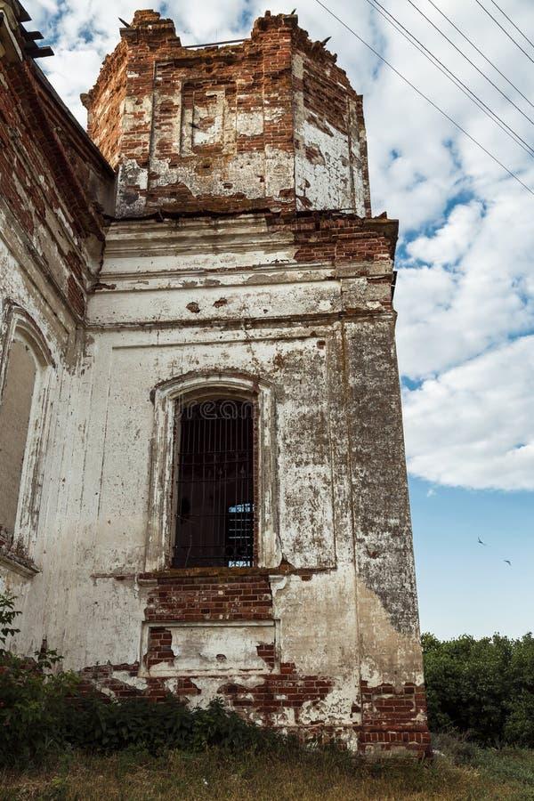 Sikt av den Saratov regionen Historisk byggnad i den Volga regionen av Ryssland det 19th århundradet 1872 år En serie av fotograf royaltyfria foton
