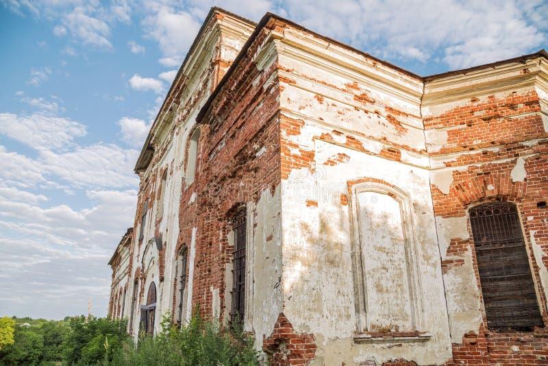 Sikt av den Saratov regionen Historisk byggnad i den Volga regionen av Ryssland det 19th århundradet 1872 år En serie av fotograf fotografering för bildbyråer
