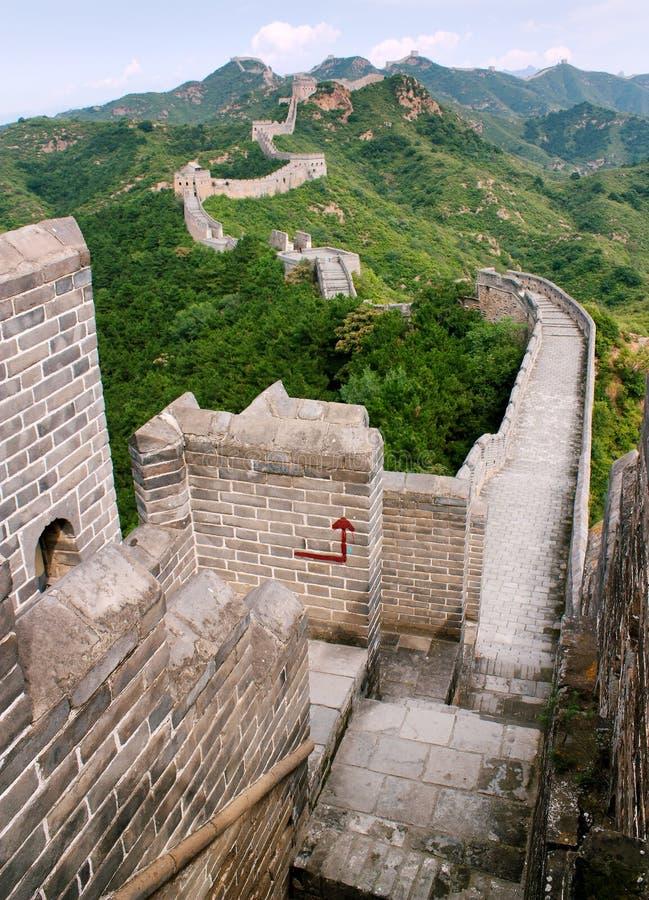 Sikt av den stora väggen av Kina royaltyfri foto
