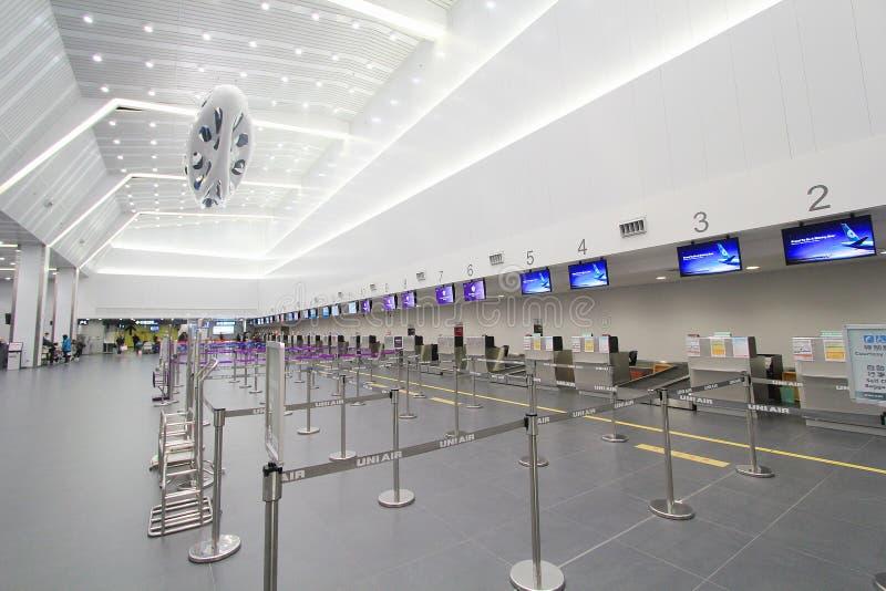 Sikt av den Taichung flygplatsen royaltyfria bilder