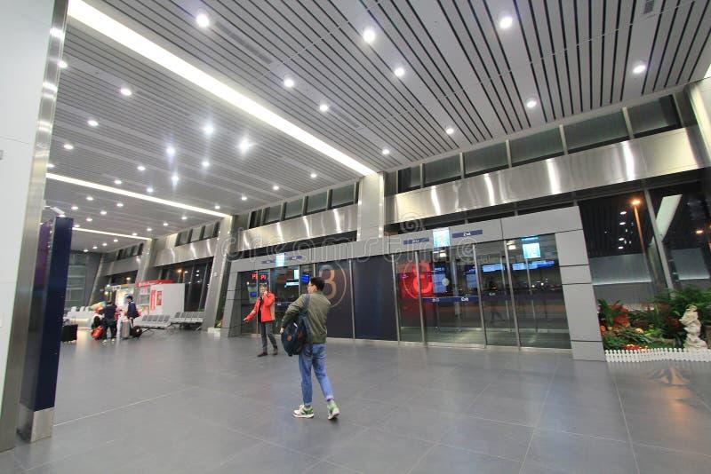 Sikt av den Taichung flygplatsen arkivfoto
