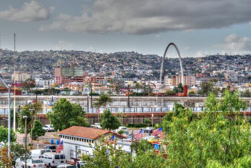 Sikt av den Tijuana staden, Mexico royaltyfria foton