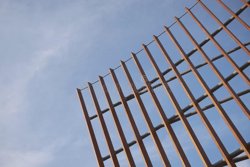 Sikt av den Unicredit paviljongstrukturen arkivbilder