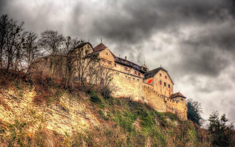 Sikt av den Vaduz slotten fotografering för bildbyråer