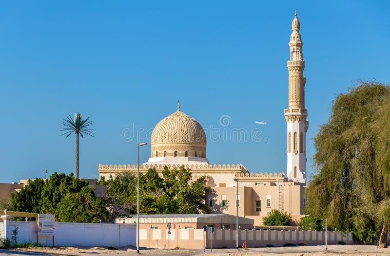 Sikt av den Zabeel moskén i Dubai arkivbild