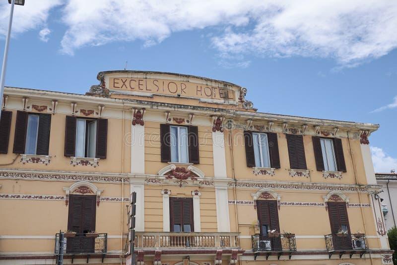 Sikt av det excelsior hotellet arkivbild