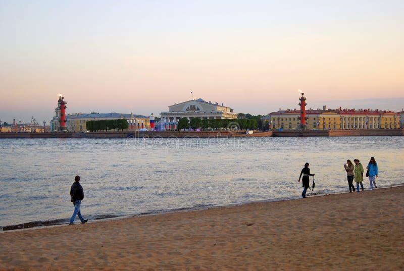 Sikt av det historiska centret av St Petersburg, Ryssland arkivfoto