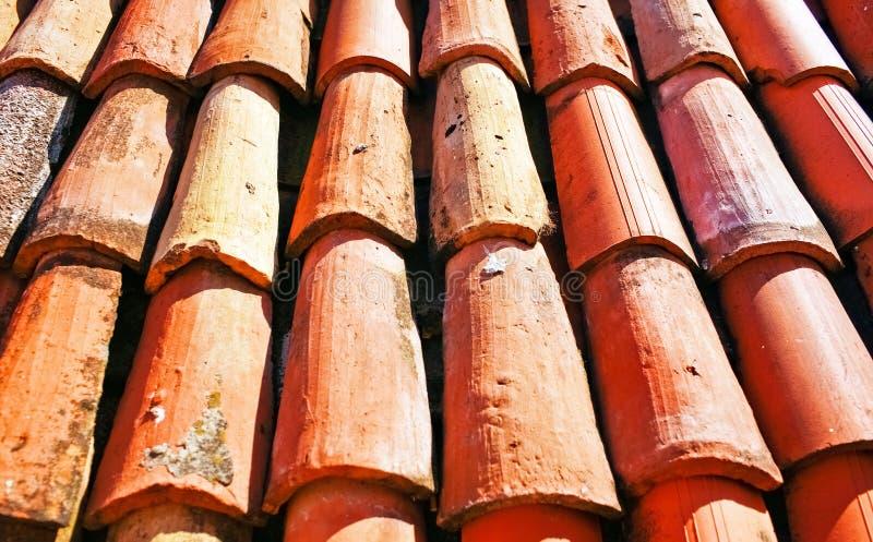 Sikt av det röda taket arkivbilder