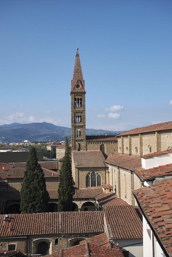 Sikt av det Santa Maria Novella klockatornet arkivbild