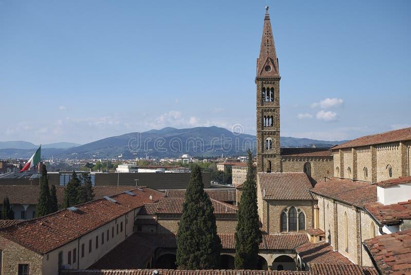Sikt av det Santa Maria Novella klockatornet arkivbilder