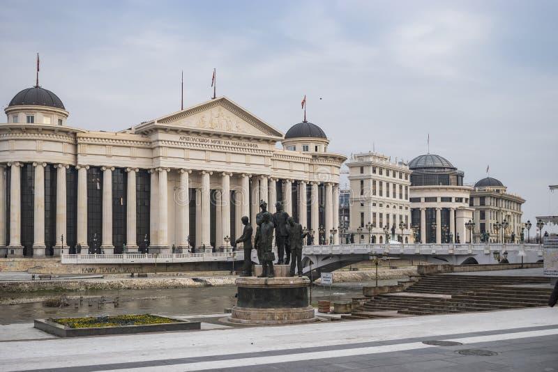 Sikt av det Skopje centret arkivfoto
