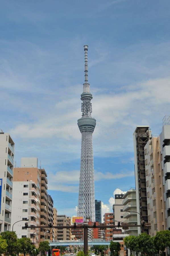 Sikt av det Skytree tornet av Tokyo royaltyfri foto