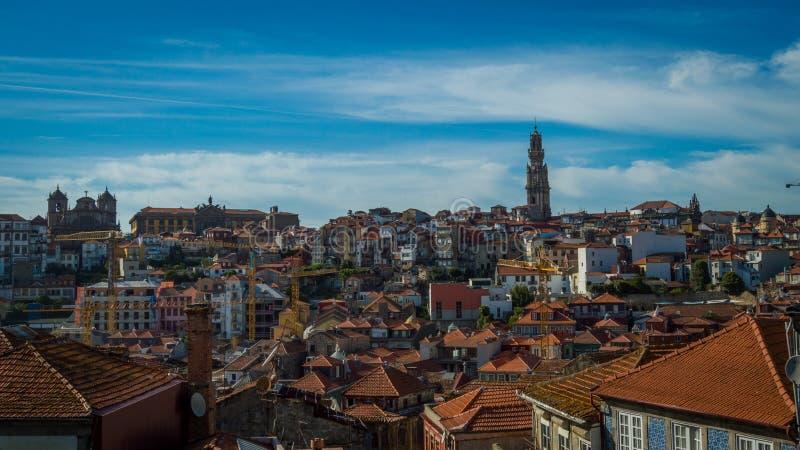 Sikt av en del av Porto fotografering för bildbyråer