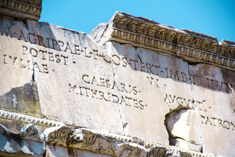 Sikt av Ephesus den forntida staden arkivfoto