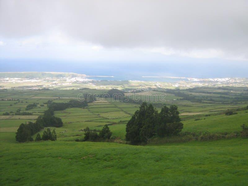 Sikt av ett landskap på Azoresna royaltyfria foton