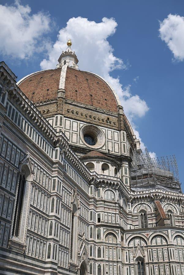 Sikt av Florence Cathedral arkivbild