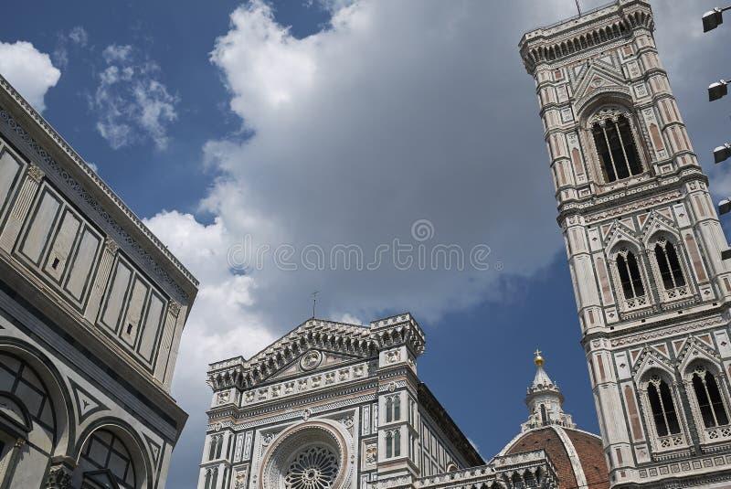 Sikt av Florence Cathedral royaltyfri bild
