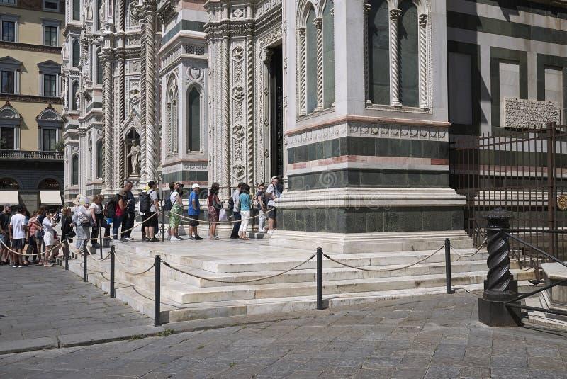 Sikt av Florence Cathedral royaltyfria foton