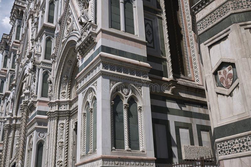 Sikt av Florence Cathedral royaltyfri fotografi