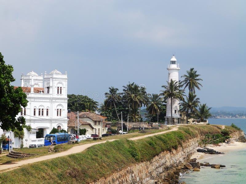 Sikt av fortet Galle, Sri Lanka arkivfoto