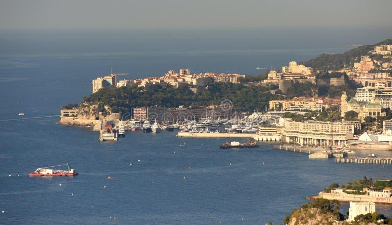 Sikt av furstendömet av Monaco arkivbilder