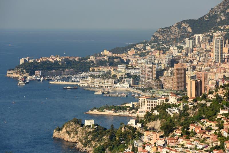 Sikt av furstendömet av Monaco arkivbild