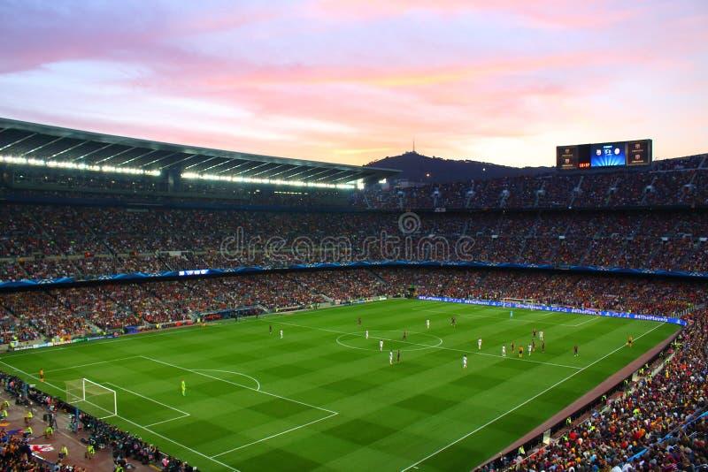 Sikt av Futbol klubbaBarcelonas stadion royaltyfri foto