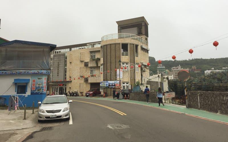 Sikt av gatan i det Wanhua området av Taipei royaltyfri bild