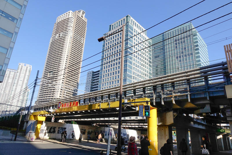 Sikt av gatan i Himeji, Japan royaltyfri fotografi