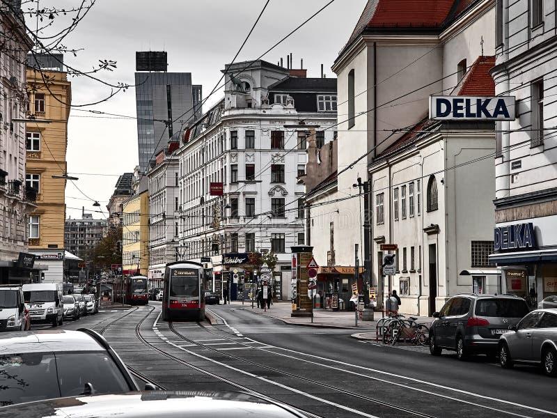 Sikt av gatorna av Wien royaltyfria foton