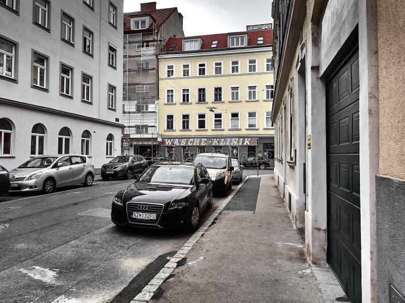 Sikt av gatorna av Wien royaltyfria bilder
