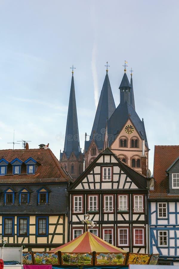 Sikt av Gelnhausen, Tyskland royaltyfri foto