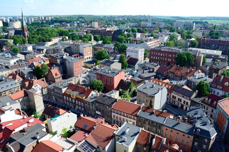 Sikt av Gliwicen i Polen royaltyfria foton