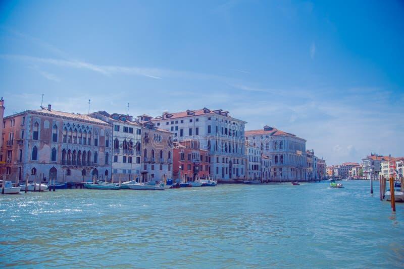 Sikt av Grand Canal i Venedig fotografering för bildbyråer