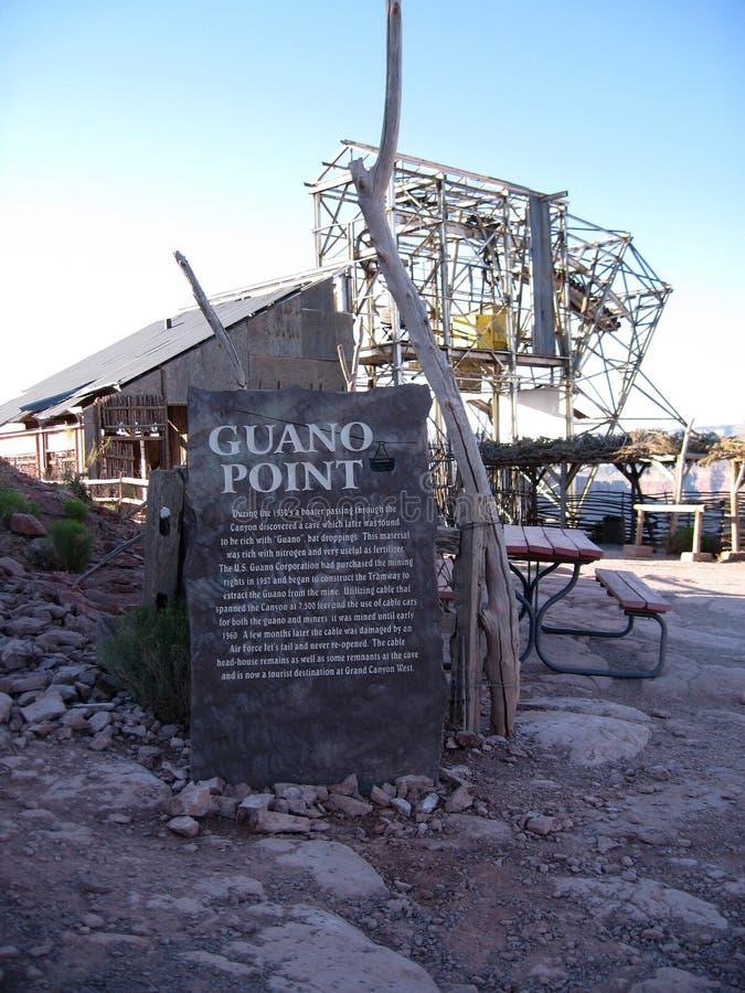 Sikt av guanopunkt på Grand Canyon den västra kanten i nordvästliga Arizona arkivbilder