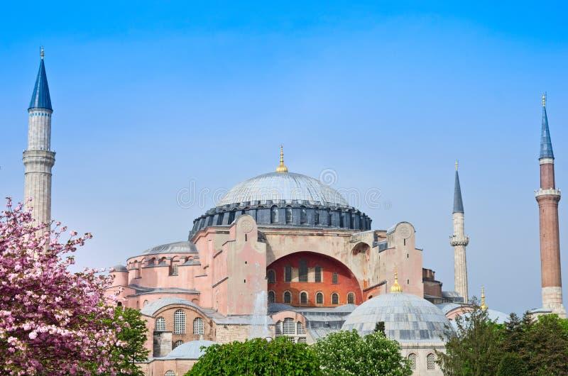 Sikt av Hagia Sofia eller Ayasofya, Istanbul, Turkiet arkivbild