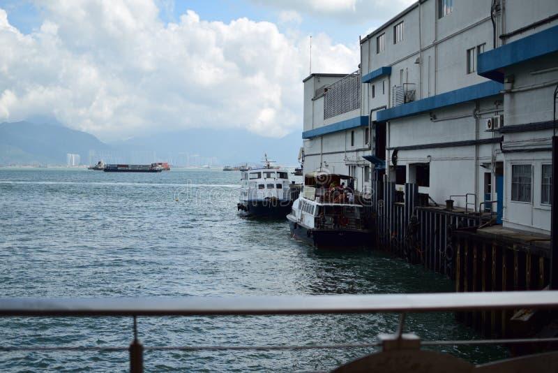 Sikt av hamnen royaltyfri foto