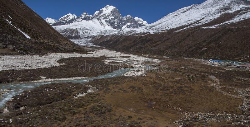 Download Sikt Av Himalayasna (det Awi Maximumet) Från Pheriche Fotografering för Bildbyråer - Bild av ryggsäcken, expedition: 37344385