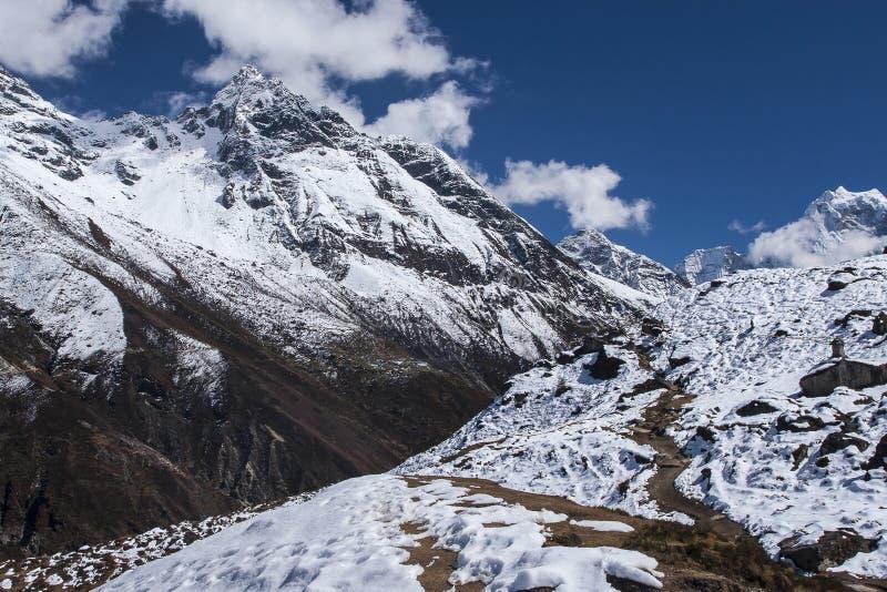 Download Sikt Av Himalayasna Från De Omgeende Byarna Machhermo Fotografering för Bildbyråer - Bild av resa, stuga: 37344835