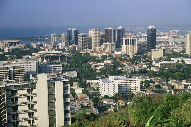 Sikt av Honolulu royaltyfri fotografi