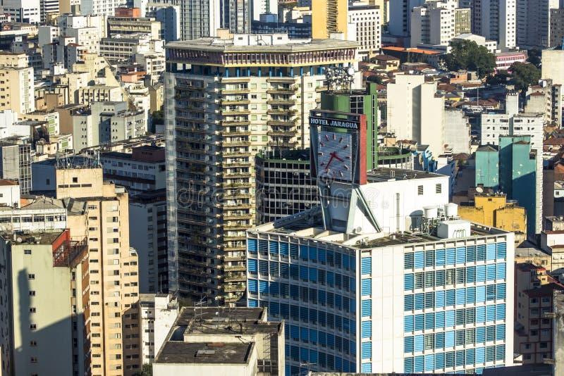 Sikt av horisontcentret av Sao Paulo arkivfoton