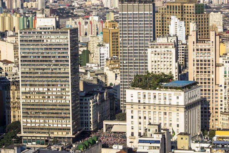 Sikt av horisontcentret av Sao Paulo royaltyfria foton
