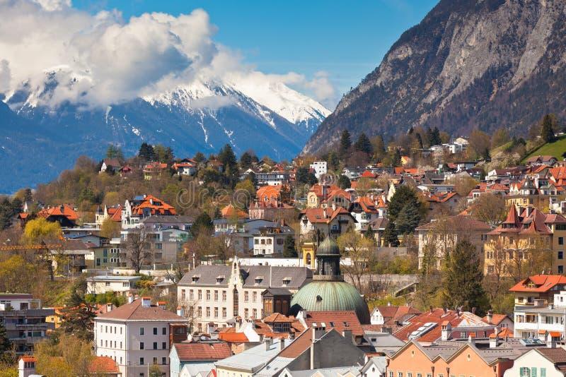Sikt av Innsbruck, Österrike arkivfoto