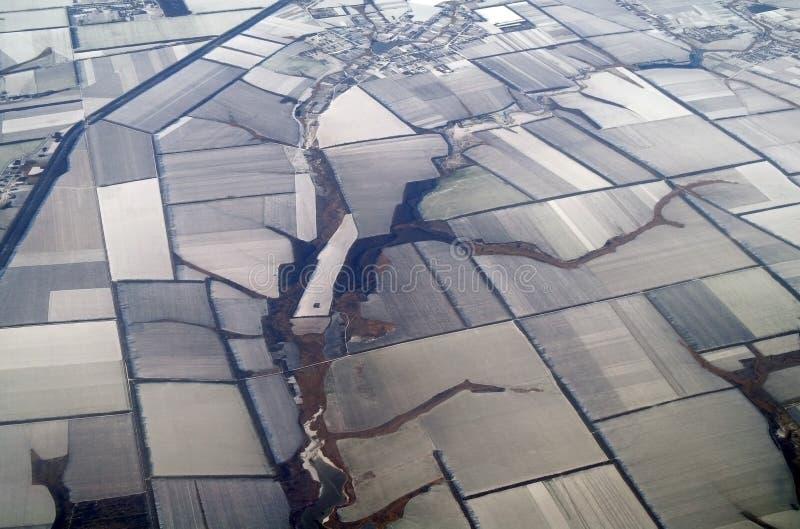 Sikt av jord, vinter arkivbild