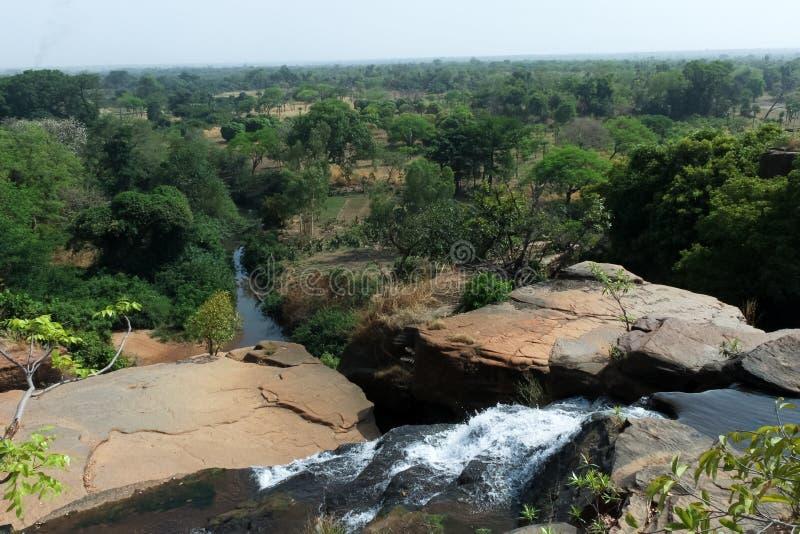 Sikt av Karfiguela, Burkina Faso arkivbilder
