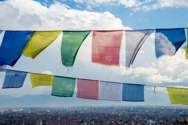 Sikt av Kathmandu Valley royaltyfria foton
