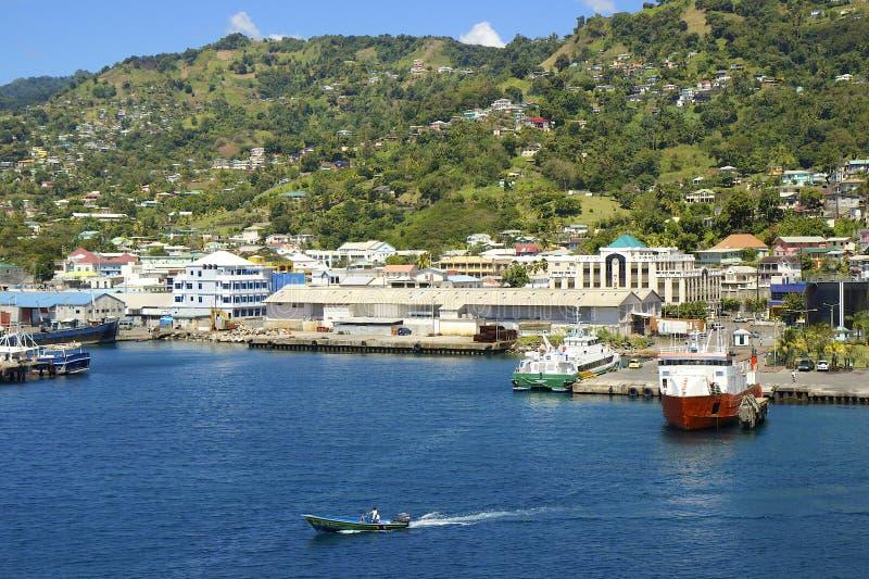 Sikt av Kingstown, st Vincent som är karibisk fotografering för bildbyråer