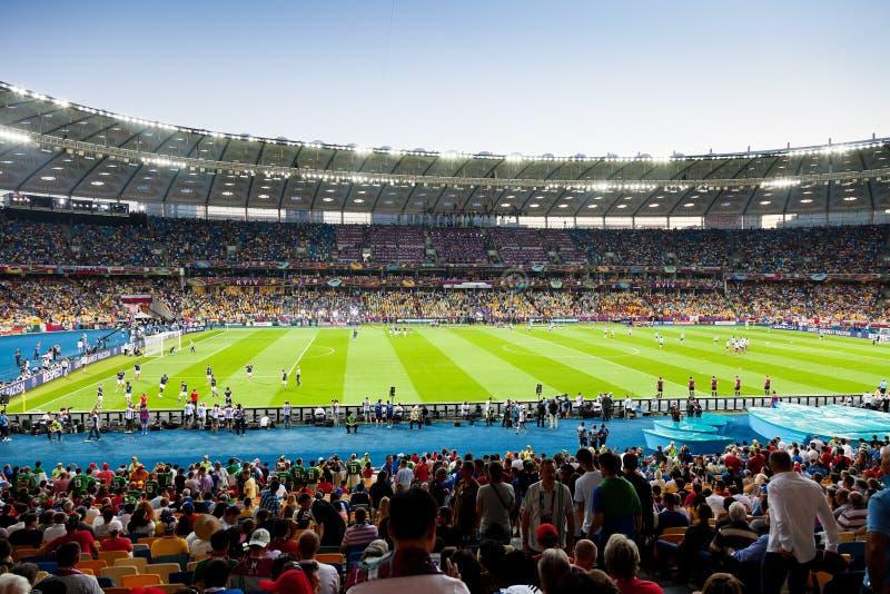 Sikt av Kyivs olympiska stadion royaltyfria foton